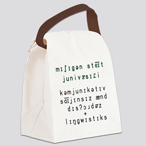 2-Phonetic MSU CSD and Linguistic Canvas Lunch Bag
