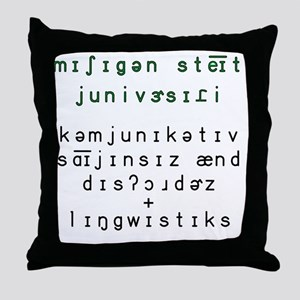 2-Phonetic MSU CSD and Linguistics wi Throw Pillow