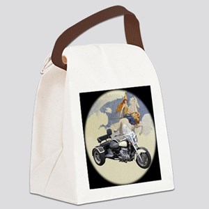 AB12 C-MOUSE VAL BW Canvas Lunch Bag