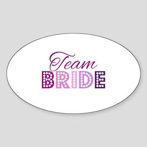 Team Bride in purple and pink Sticker