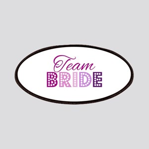 Team Bride in purple and pink Patches