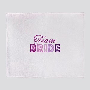 Team Bride in purple and pink Throw Blanket