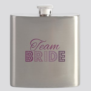 Team Bride in purple and pink Flask
