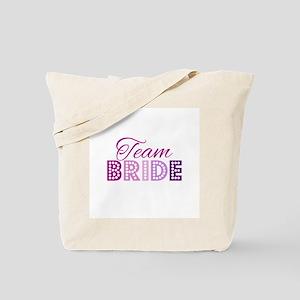 Team Bride in purple and pink Tote Bag