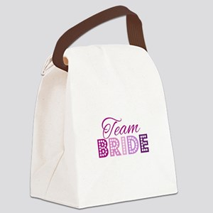 Team Bride in purple and pink Canvas Lunch Bag