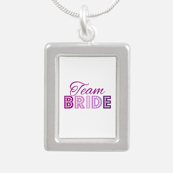 Team Bride in purple and pink Necklaces