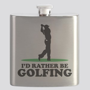 Id Rather Be Golfing Flask