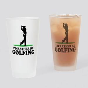 Id Rather Be Golfing Drinking Glass