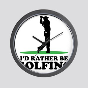 Id Rather Be Golfing Wall Clock
