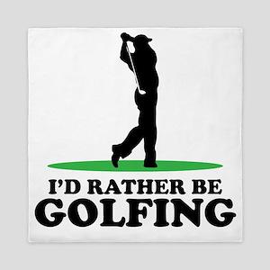 Id Rather Be Golfing Queen Duvet