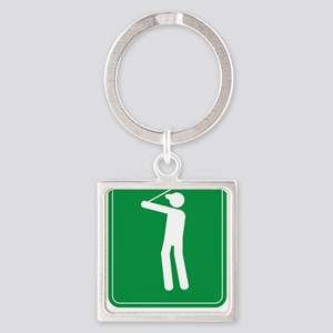 Handicapped copy Square Keychain