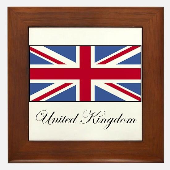 UK - United Kingdom Framed Tile
