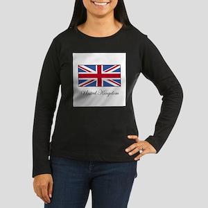 UK - United Kingdom Women's Long Sleeve Dark T-Shi