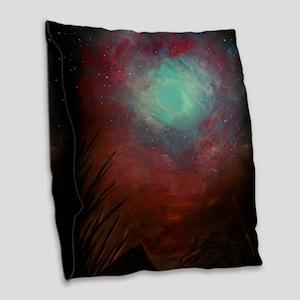 Spacious Sky Burlap Throw Pillow