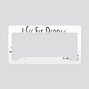 i-see-fit-people---tri-woman License Plate Holder