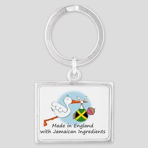 stork baby eng jam 2 Landscape Keychain