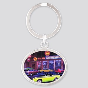 Mopar Car Dealer Oval Keychain