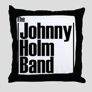 JHB stack Logo black letter Throw Pillow