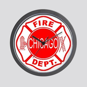 cfd maltese outline filled in fire dept Wall Clock
