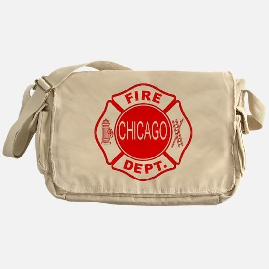 2-cfd maltese outline filled in fire Messenger Bag