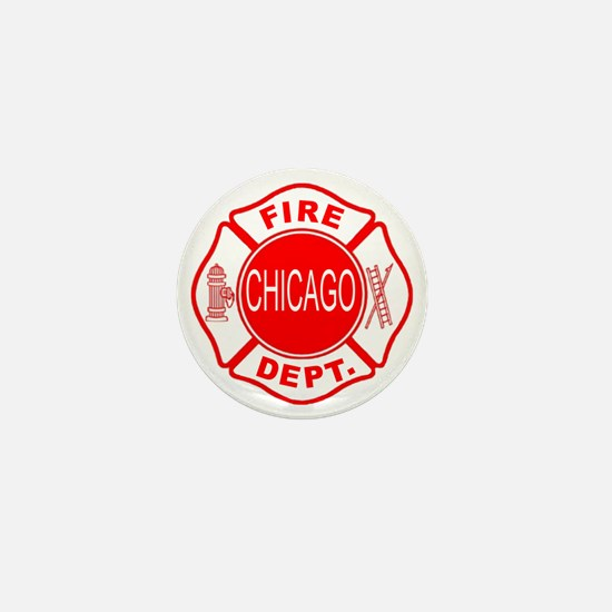 2-cfd maltese outline filled in fire d Mini Button