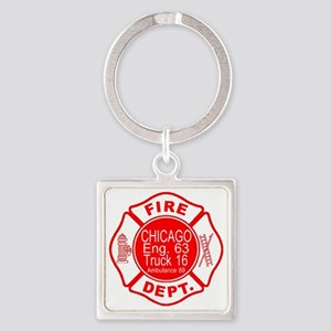 2-cfd maltese outline filled in fi Square Keychain