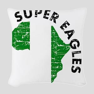african soccer designs Woven Throw Pillow