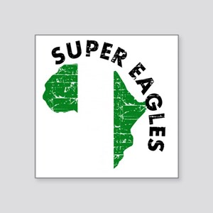 "african soccer designs Square Sticker 3"" x 3"""
