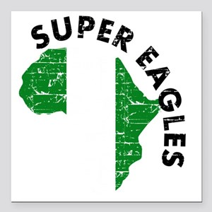 "african soccer designs Square Car Magnet 3"" x 3"""