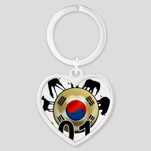Korea Republic World Cup 9 Heart Keychain