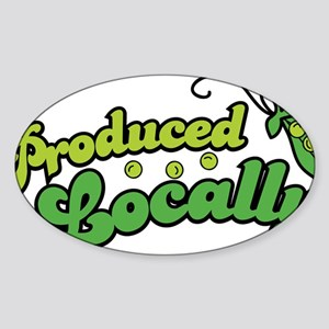 producedlocally Sticker (Oval)