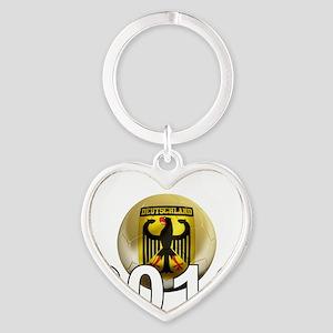 Germany Football5Bk Heart Keychain
