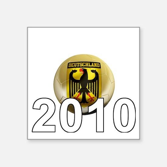 "Germany Football5Bk Square Sticker 3"" x 3"""