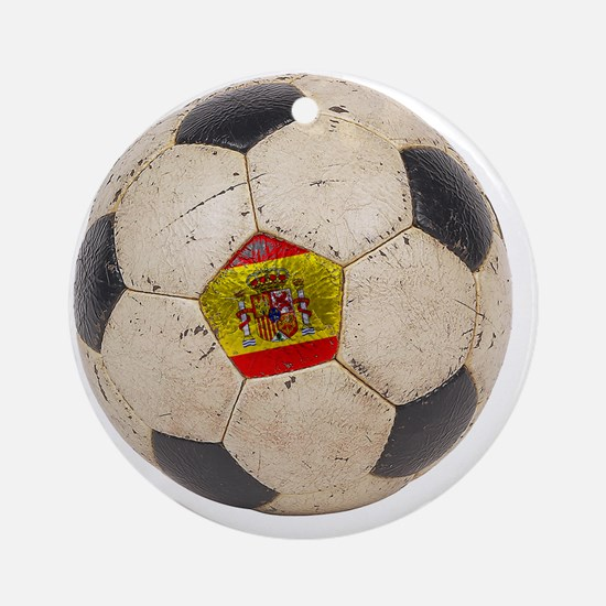 Spain Football3 Round Ornament