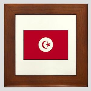 Tunisian Flag Framed Tile