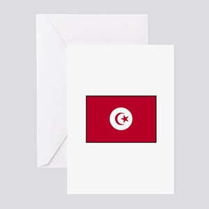 Tunisian Flag Greeting Cards (Pk of 10)
