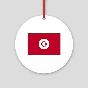 Tunisian Flag Ornament (Round)