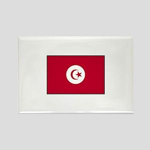 Tunisian Flag Rectangle Magnet