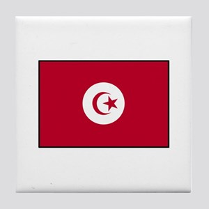 Tunisian Flag Tile Coaster