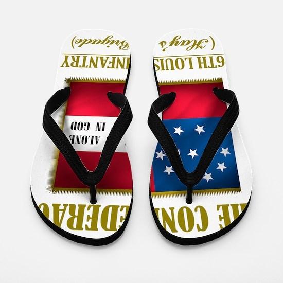 6th Louisiana Inf (Flag 3) Flip Flops