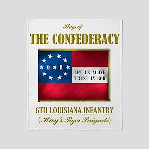 6th Louisiana Inf (Flag 3) Throw Blanket