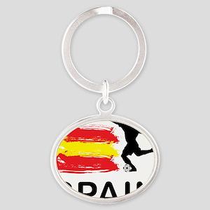 Spain Football6 Oval Keychain