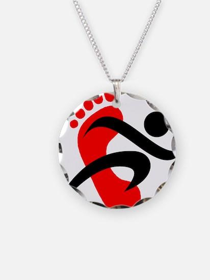 runbarefoot small left Necklace
