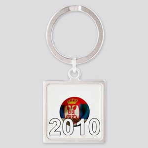 Serbia Football2Bk Square Keychain