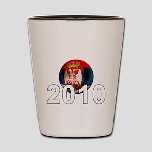 Serbia Football2Bk Shot Glass