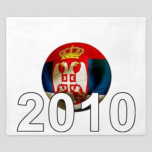 Serbia Football2Bk King Duvet