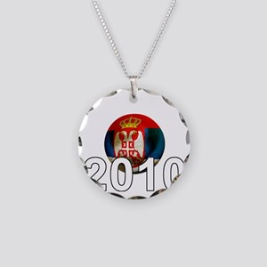 Serbia Football2Bk Necklace Circle Charm