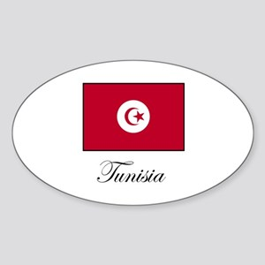 Tunisia Oval Sticker
