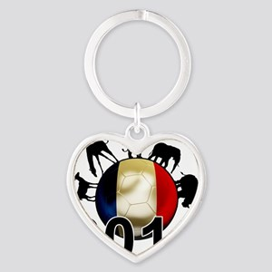 France World Cup2 Heart Keychain