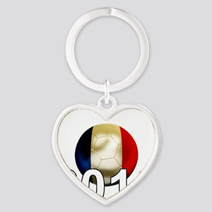 France World Cup2Bk Heart Keychain